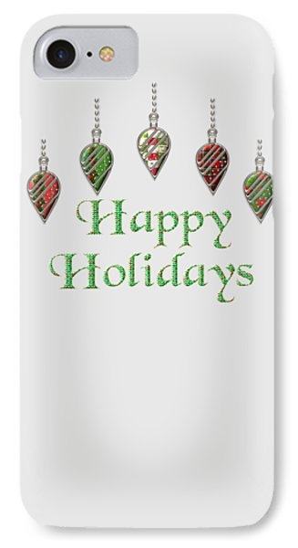 Happy Holidays Merry Christmas IPhone Case by Movie Poster Prints