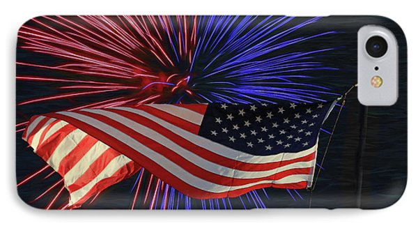 Happy Independence Day IPhone Case by Donna Kennedy