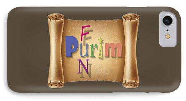 Happy Joyous Fun Purim  IPhone Case by Humorous Quotes