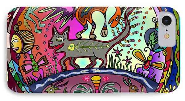 IPhone Case featuring the digital art Happy Kitties by Marti McGinnis