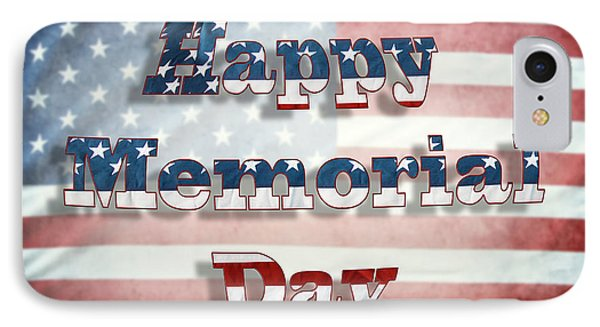 Happy Memorial Day IPhone Case by Les Cunliffe