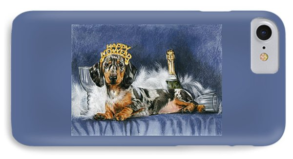 IPhone Case featuring the mixed media Happy New Year by Barbara Keith