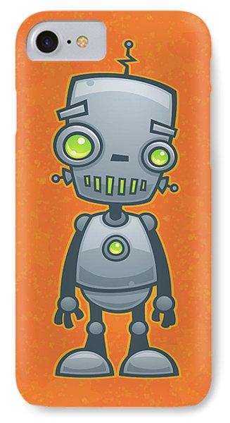 Happy Robot Phone Case by John Schwegel
