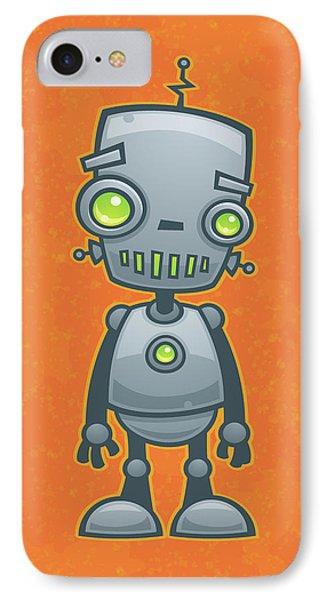 Happy Robot IPhone Case by John Schwegel