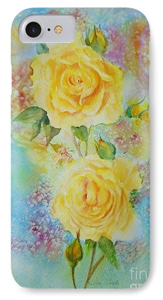 Happy Roses IPhone Case by Beatrice Cloake
