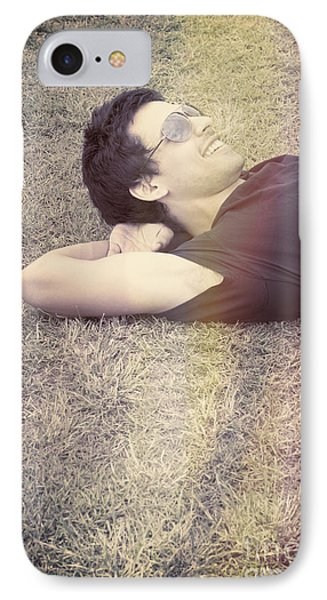 Happy Smiling Man Resting On Summer Holiday IPhone Case