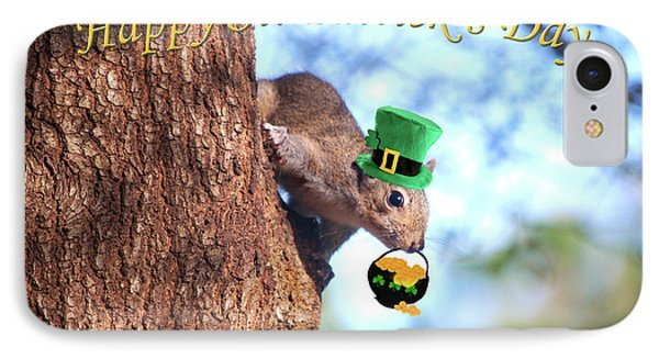 Happy St. Pat's Day Card IPhone Case by Adele Moscaritolo