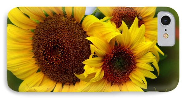 IPhone Case featuring the photograph Happy Sunflowers by Kay Novy
