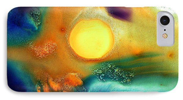 Happy Sunrise Fluid Abstract Art Liquid Painting By Kredart IPhone Case by Serg Wiaderny