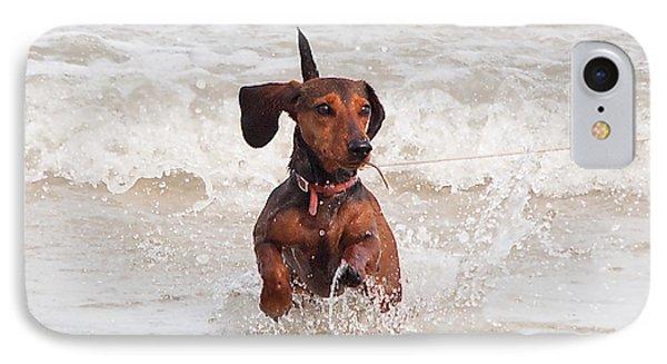 Happy Surf Dog IPhone Case