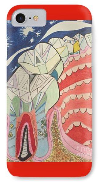 Happy Teeth IPhone Case by Michelle Reid