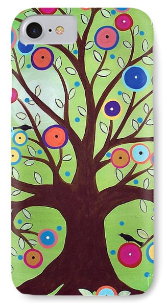 Happy Tree IPhone Case by Karla Gerard
