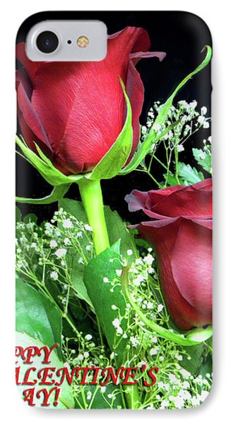 IPhone Case featuring the photograph Happy Valentines Day by Sandi OReilly