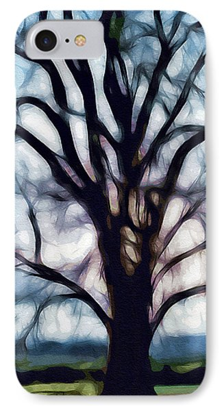 IPhone Case featuring the digital art Happy Valley Tree by Holly Ethan