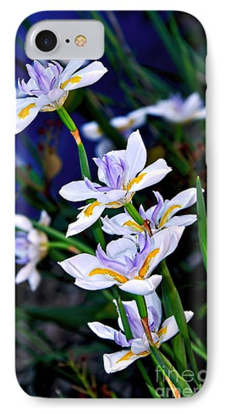 Happy Wild Iris Phone Case by Kaye Menner