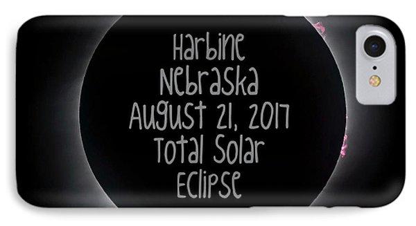 Harbine Nebraska Total Solar Eclipse August 21 2017 IPhone Case