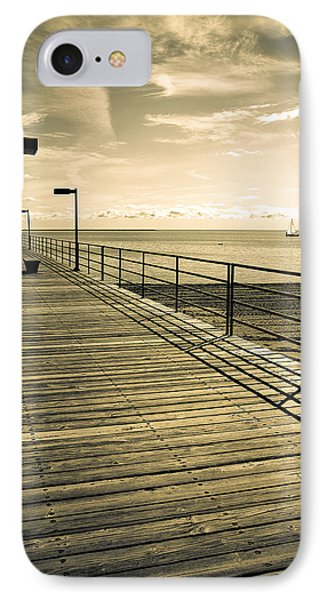 Harbor Beach Michigan Boardwalk IPhone Case