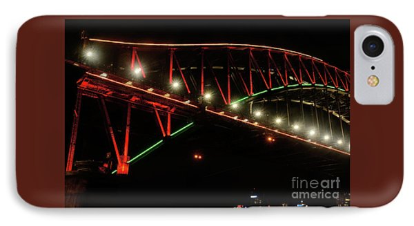 IPhone Case featuring the photograph Harbor Bridge Green And Red By Kaye Menner by Kaye Menner