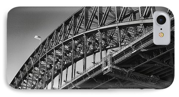 IPhone Case featuring the photograph Harbor Bridge In Black And White by Yew Kwang