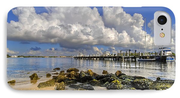 Harbor Clouds At Boynton Beach Inlet IPhone Case by Debra and Dave Vanderlaan