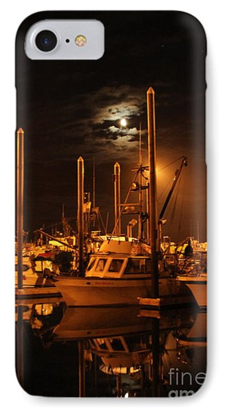 Harbor Moon Phone Case by Rick  Monyahan