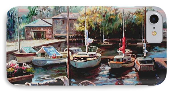 Harbor Sailboats At Rest IPhone Case by Ron Chambers
