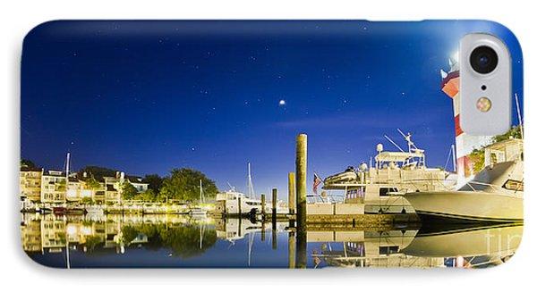 Harbor Town Yacht Basin Light House Hilton Head South Carolina IPhone Case by Dustin K Ryan