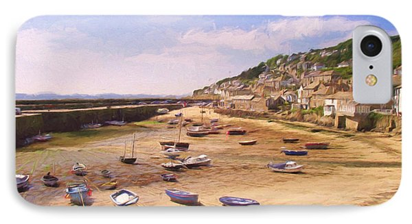 Harbour At Low Tide - Mousehole IPhone Case by Jayne Wilson