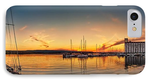 Harbour At Sunset Phone Case by Jeff S PhotoArt