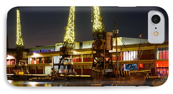 IPhone Case featuring the photograph Harbour Cranes by Colin Rayner