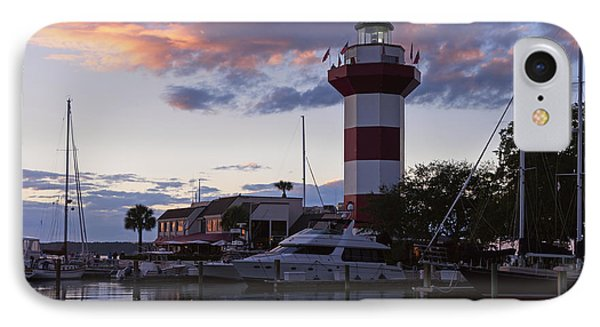 Harbour Town At Sunset Hilton Head Island IPhone Case by Louise Heusinkveld