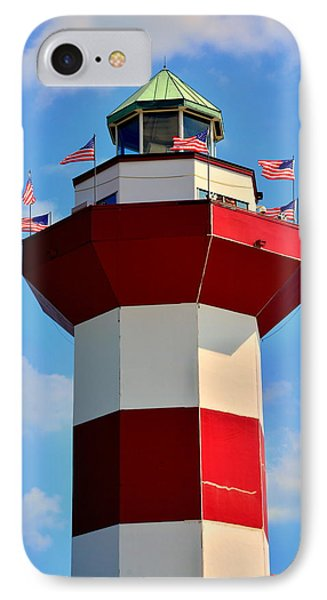 Harbour Town Lighthouse 2 IPhone Case by Lisa Wooten