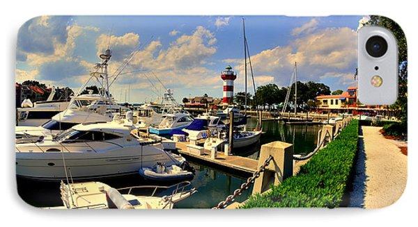 Harbour Town Marina Sea Pines Resort Hilton Head Sc IPhone Case by Lisa Wooten