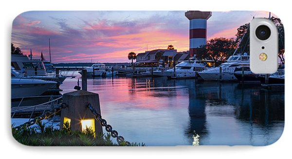 Harbour Town Sunset, Hilton Head Island, South Carolina IPhone Case by Dawna Moore Photography