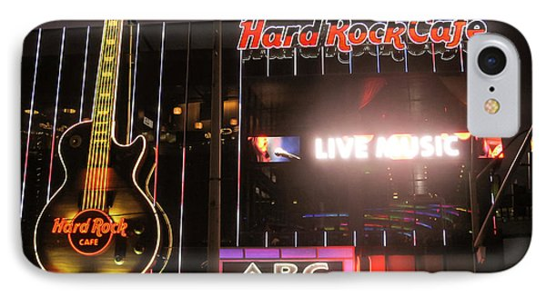 Hard Rock Cafe Las Vegas Strip At Night IPhone Case by RicardMN Photography