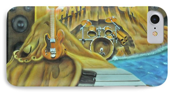 IPhone Case featuring the painting Hard Rock by Thomas J Herring