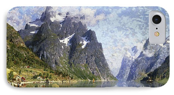Hardanger Fjord, Norway IPhone Case by Adelsteen Normann