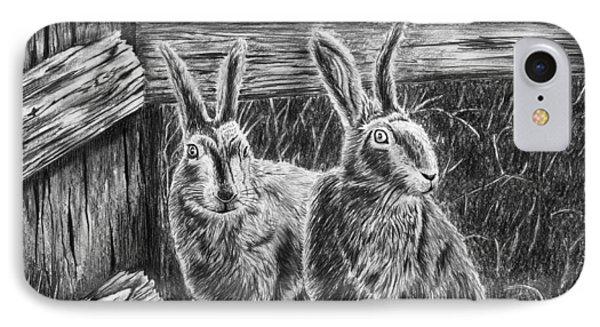 Hare Line  Phone Case by Peter Piatt