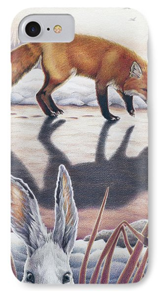 Hare Stands On End IPhone Case by Amy S Turner