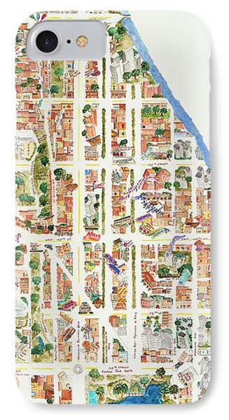 Harlem iPhone 7 Case - Harlem From 106-155th Streets by Afinelyne
