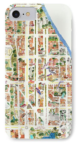Harlem From 110-155th Streets IPhone 7 Case by Afinelyne