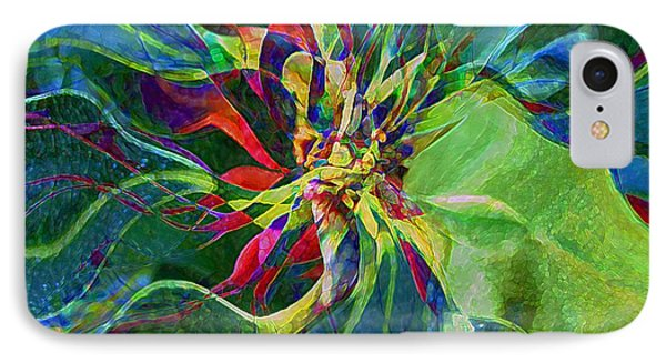 Harlequin Poinsettia Phone Case by RC DeWinter