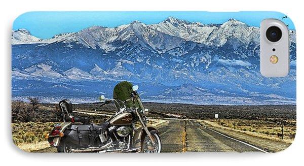 Harley Davidson Heritage Motorcycle On The Doorstep Of The Rockies, Colorado IPhone Case