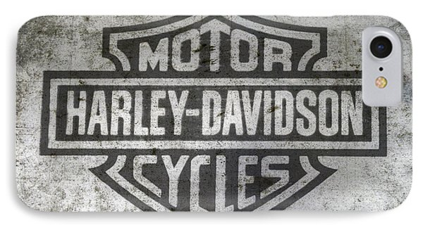 Harley Davidson Logo On Metal IPhone Case by Randy Steele