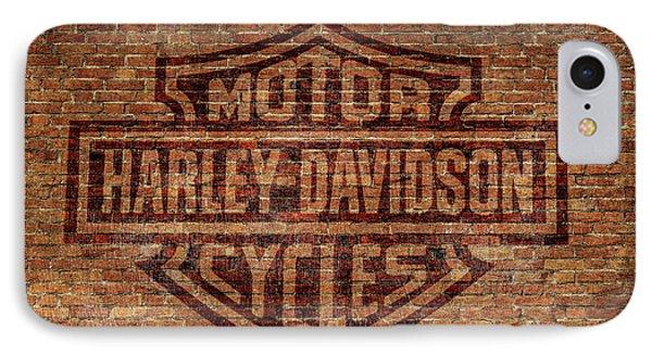 Harley Davidson Logo Red Brick Wall IPhone Case