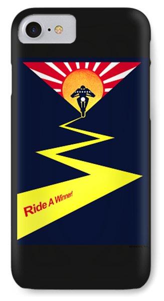 Harley Ride A Winner IPhone Case by Mark Rogan