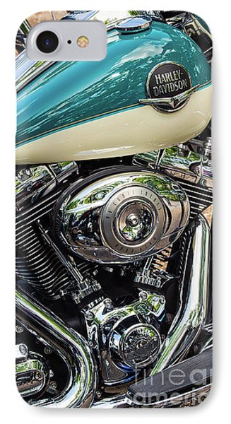 Harley Davidson Road King IPhone Case by Tim Gainey