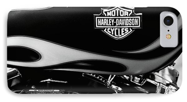 Harley Flames 111116 IPhone Case by Rospotte Photography