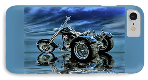 IPhone Case featuring the photograph Harley Heritage Soft Tail Trike by Steven Agius
