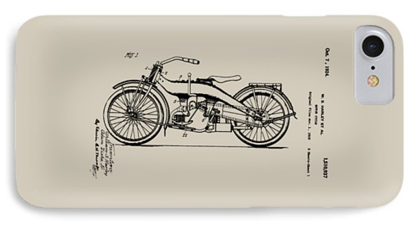 Harley Motorcycle Patent Phone Case by Bill Cannon
